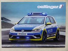 Oettinger Umbau Tuning Polizei VW Golf R 400R 2.0 TSI 400 PS - Prospekt 2017