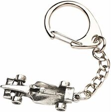 Formula One Racing Car Keyring  -  Beautiful Quality Pewter Gift