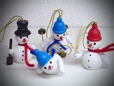 Kit de 4 Adorno navidad bola muñeco de nieve con hilo para colgar 6cm colores