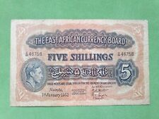 Banknote from East Africa Currency Board 5 shillings 1952