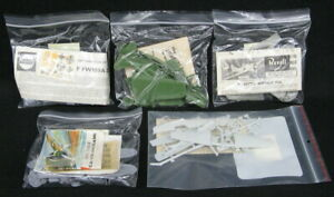 FIVE (5) DIFFERENT 1/72 BAGGED AIRCRAFT MODELS Revell Airfix Lindberg