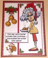 Handmade Greeting Card 3D Christmas Humorous With Stella