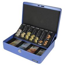 HMF 100155 Caja de caudales, bandeja para contar monedas 30,0 x 24,0 x 9,0 cm az