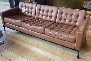 Robin Day Loft Club 3 Seater Leather Sofa Ex-Display RRP £2920