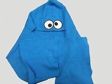 NEW SESAME STREET Cookie Monster SCARF with Hood knit beanie  O/S