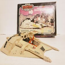 Vintage Star Wars 1980 Rebel Armored Snowspeeder Original Box + Luke Skywalker