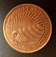 "Estado De Honduras 2 reales Mint ""PROVISINAL"" error 1833-TF (Provisional) T-020"