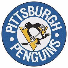 "Pittsburgh Penguins 27"" Hockey Puck Shaped Area Rug Floor Mat"
