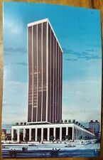 Indianapolis, Indiana vintage 1960s blank postcard, Regions/National Bank Tower