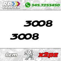 COPPIA 2 ADESIVI PEUGEOT 3008 AUTO stickers montanti