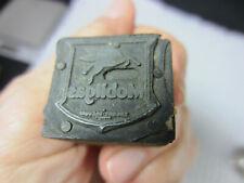 Vintage Letterpress Print Block Copper Plate Mobilgas Pegasus 78 X 1