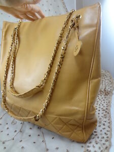 Authentic VINTAGE JUMBO Chanel GST Neverfull Grand Shopper TOTE Bag Purse T123