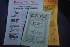 Prof. Jesse Beery How to Breed Live Stock & Animal Breeding Advertising & More