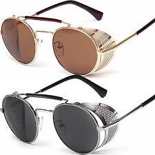 NUEVO Redondo Ovalado Lentes Blinder Gafas Steampunk de sol UV400 HOMBRE MUJER