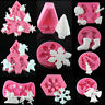 3D Christmas Silicone Fondant Cake Chocolate Sugarcraft Decorating Baking Mould