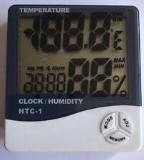 Reloj de humedad temperatura pantalla digital HTC-1 Higrómetro