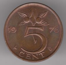 Netherlands 5 Cents 1976 Bronze Coin - Queen Juliana