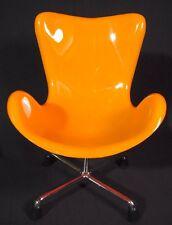 Miniature Sampler Egg Swan Chair Mid Century Modern Home Decor Pantone Orange