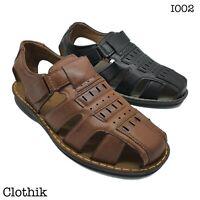 SANDALI UOMO regolabili ecopelle comfort ciabatte pantofole scarpe I002