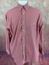 Orvis Long Sleeve Button Down Collar Shirt Red Gingham Check Men's Large