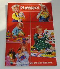 PLAYSKOOL Katalog Catalogue 1990 deutsch Lernspielzeug Stoff-Puppen Ernie + Bert