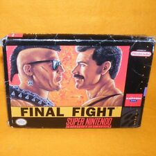 VINTAGE 1991 SUPER NINTENDO ENTERTAINMENT SYSTEM SNES FINAL FIGHT GAME BOXED