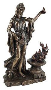 "11"" Hestia Greek Mythology Virgin Goddess of Hearth & Home Bronze Finish Statue"