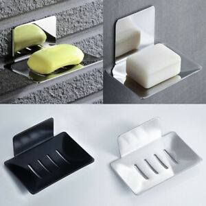 Soap Holder Dish Drainer Stainless Steel Bathroom Wall-mounted Storage Case