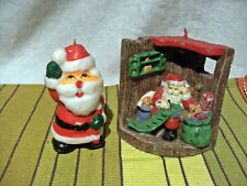 2 jolies  Bougies decoratives Noel - pere noel -