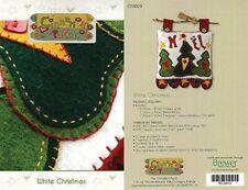 White Christmas - Pattern by Marianne Byrne-Goarin - Wool Felt Wall Hanging