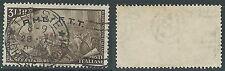 1948 TRIESTE A USATO RISORGIMENTO 3 LIRE FILIGRANA LETTERA - L18