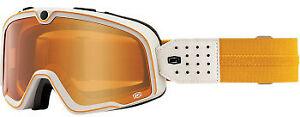 Barstow Motocross Goggles - Powersport Protective Eyewear (Oceanside - Persimmon