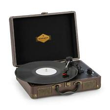 Kofferplattenspieler Retro Vinyl Stereolautsprecher Turntable USB-Ausgang braun