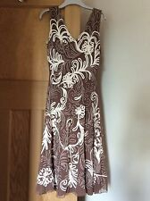 Phase Eight praline and cream dress size 14 worn once