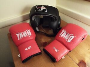TABO 10oz Boxing Gloves & Century Open Face Headgear (Excellent Condition)