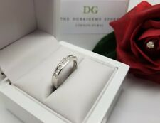 9ct White Gold Ladies natural Diamond half eternity channel set  0.33 half price
