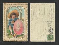 1911 KIND EASTER WISHES { JUVENILE EASTER SERIES NO 20 } POSTCARD