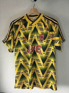 Vintage Adidas 1991-1993 Arsenal Bruised Banana Jersey Shirt Size M