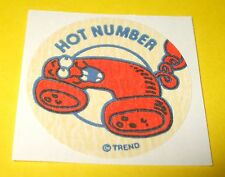 Vtg 80s TREND Scratch n Sniff MATTE Stinky Sticker HOT NUMBER Phone Scent~Rare