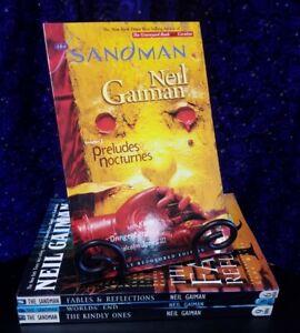 The Sandman by Neil Gaiman, TPB Volumes 1, 6, 8, 9 Mixed Set DC Comics