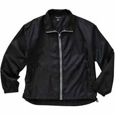 River's End Lightweight Full Zip Jacket  Athletic   Outerwear Black Mens - Size