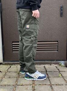 Carhartt WIP Regular Cargo Pant Ripstop Hose Herren grün/thyme