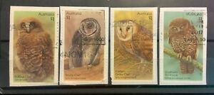 Australia 2016 Australian Owls Set of Stamps Postally Used on Paper S/A