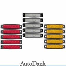 10 x 9 LED Rot 24V Seitenmarkierungsleuchten Begrenzungsleuchten LKW A13r