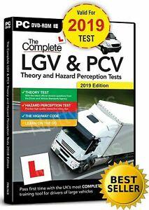 HGV LGV PCV  DVSA THEORY TEST AND HAZARD PERCEPTION TEST, PC DVD CD. 2021