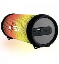 Gray Loud LED Portable Bluetooth Speaker HI-FI Heavy Bass/AUX/USB Support/FM.