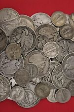 MAKE OFFER 2 Standard Ounces Silver Mercury Dimes Walking Liberty Half Dollars