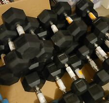 NEW CAP COATED RUBBER HEX DUMBBELLS select weight - 10, 15, 20, 25, 30, 35, 40LB