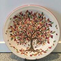 Pier 1 ~ AUTUMN TREE Salad or Dessert Plate Fall Colors LEAVES Thanksgiving NWT