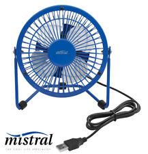 10cm USB Mini Desk Fan Blue -  5V DC with Tilt adjustment - Mistral